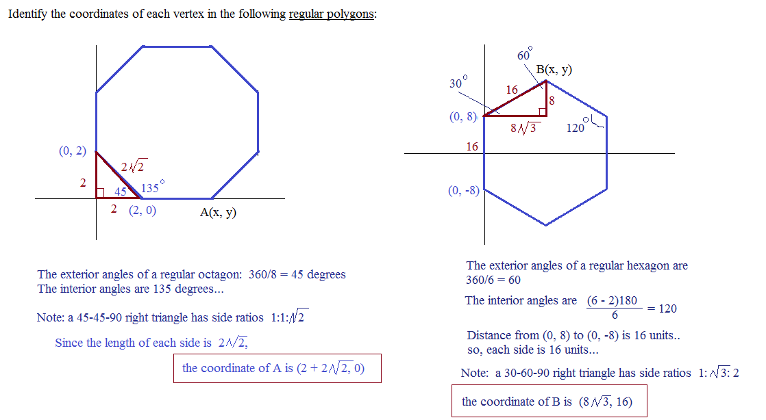Can you find the shaded area solution is at http www - Exterior angle of a regular polygon ...