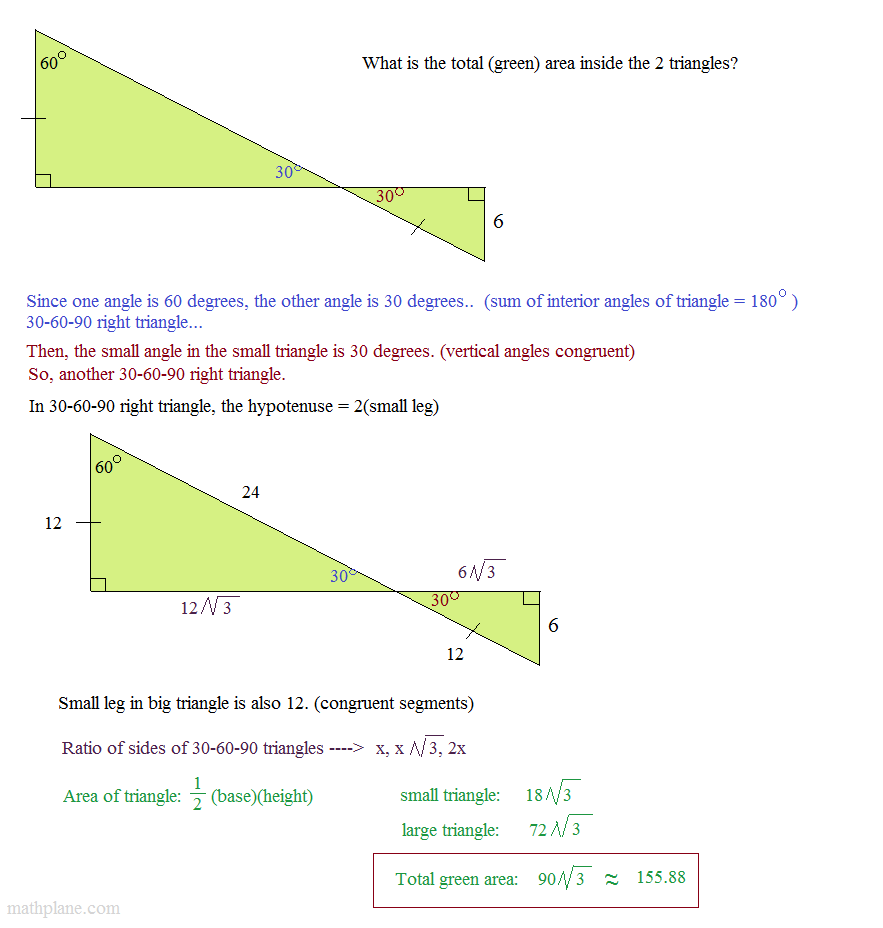 how to find inside angle of right angled triagle