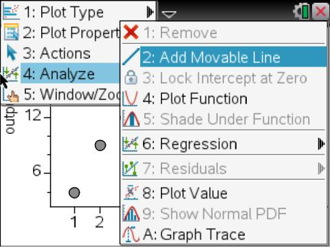 regression menus