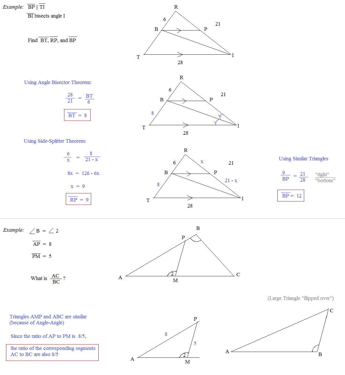 worksheet Similar Triangles Proportions Worksheet math plane similarity and proportions review questions concepts to remember proportion examples side splitter angle bisector