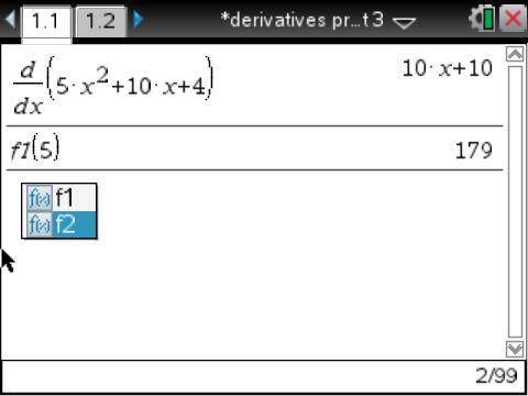 Derivative project 3 heading