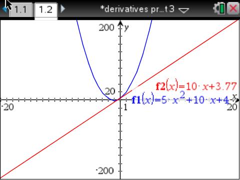 new tangent line calculus