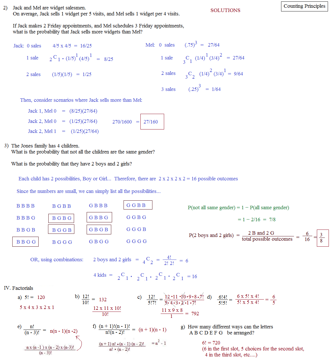 Worksheets Permutations And Combinations Worksheet With Answers math plane counting principles permutations and combinations principle quiz 2 solutions