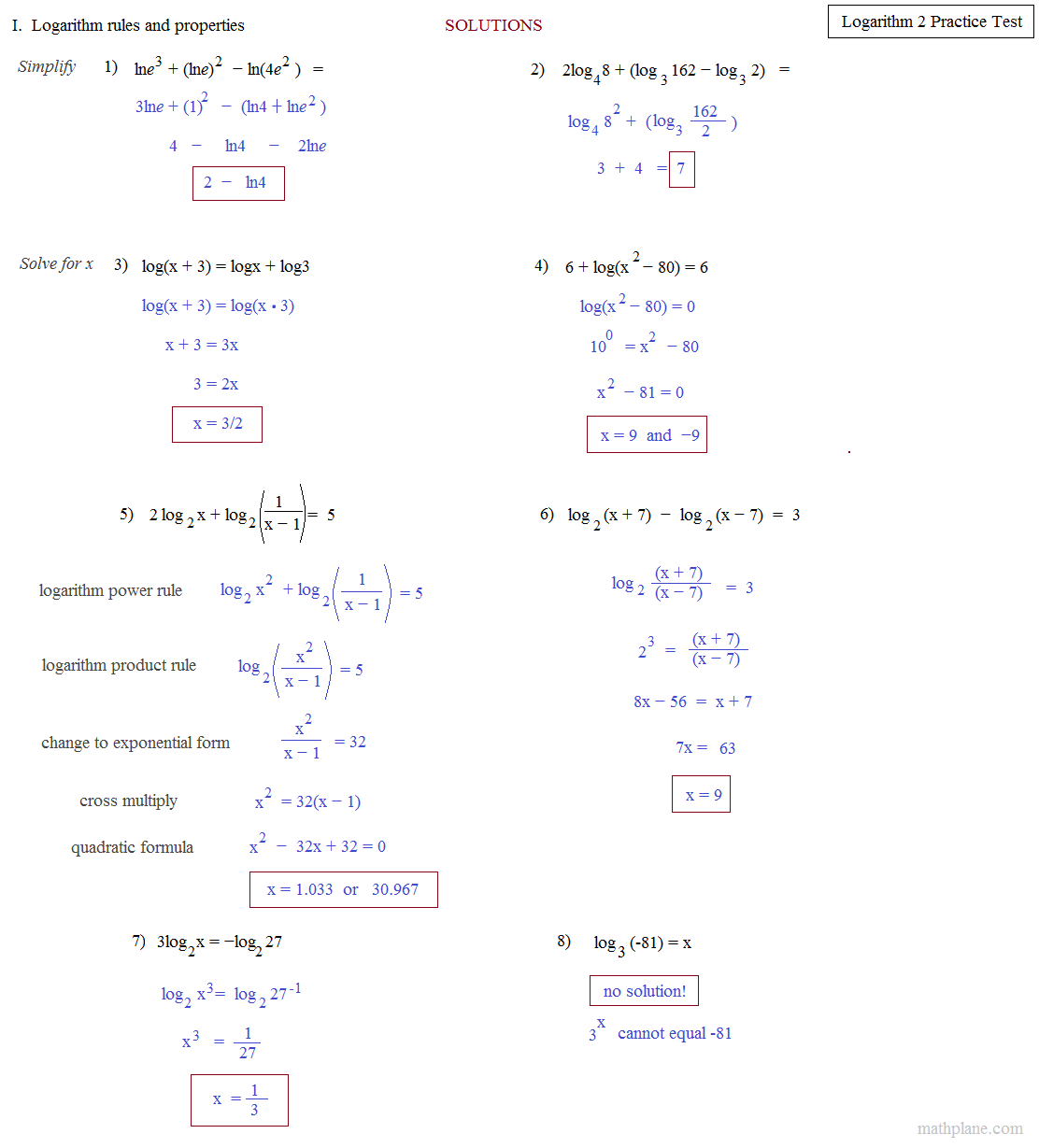Uncategorized Properties Of Logs Worksheet worksheet log properties luizah and essay math plane logarithms exponents ii equations logarithm solutions