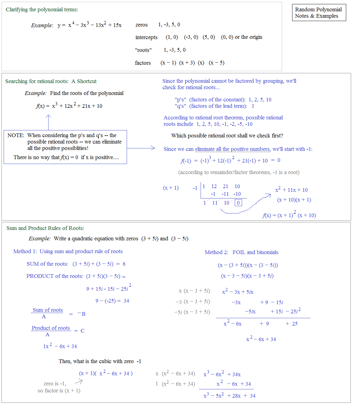 Math plane polynomials ii factors roots theorems polynomial example factor graph polynomial notes ccuart Image collections