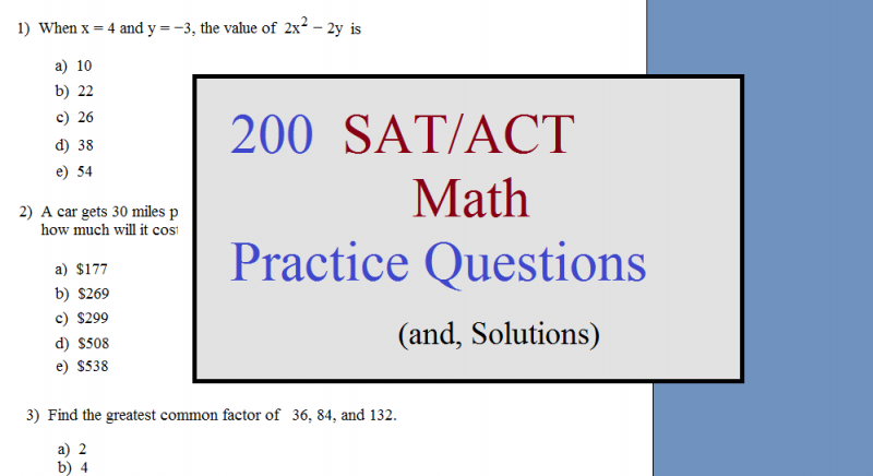 Printables Sat Math Prep Worksheets math plane sat prep practice test 3 200 act questions cover
