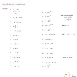 2012 number puzzle mathplane solutions