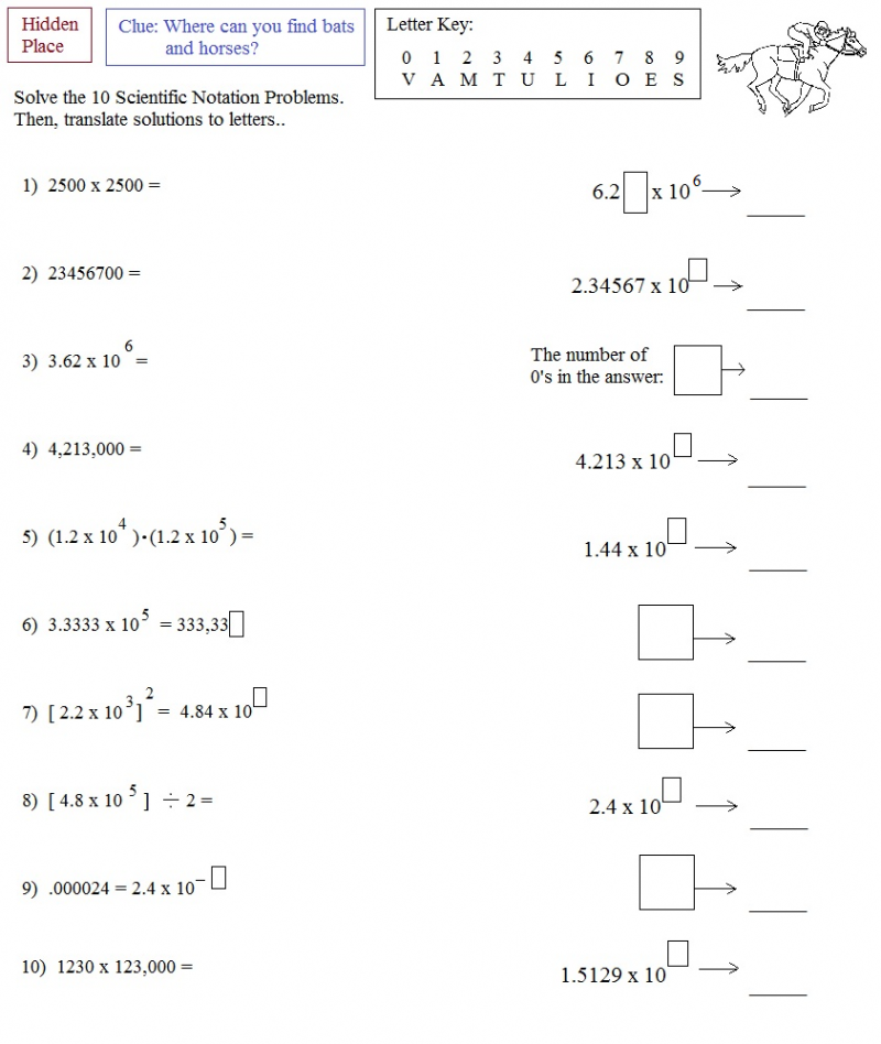 Math Plane Scientific Notation – Math Worksheets Scientific Notation