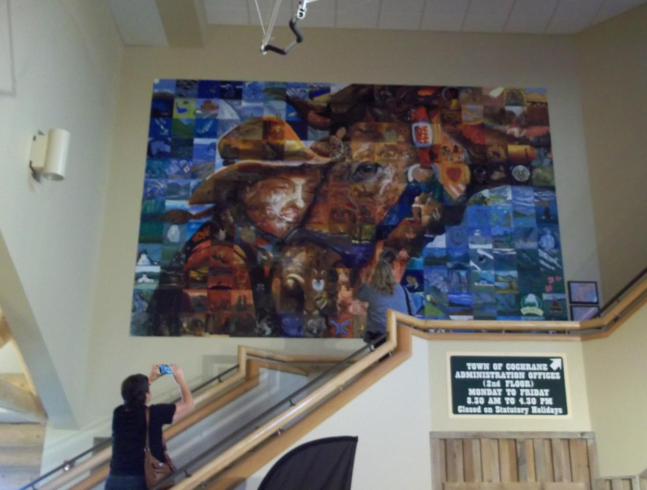 Math plane 2015 summer road trip with oscar canada east for Cochrane mural mosaic