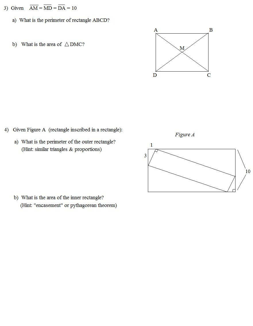 worksheet Coordinate Geometry Distance Formula Worksheet math plane geometry review 2 test page 2
