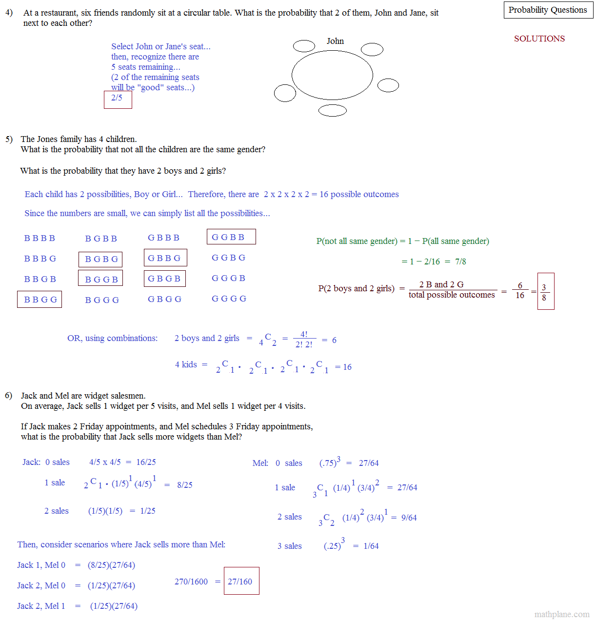 probability questions with solutions pdf