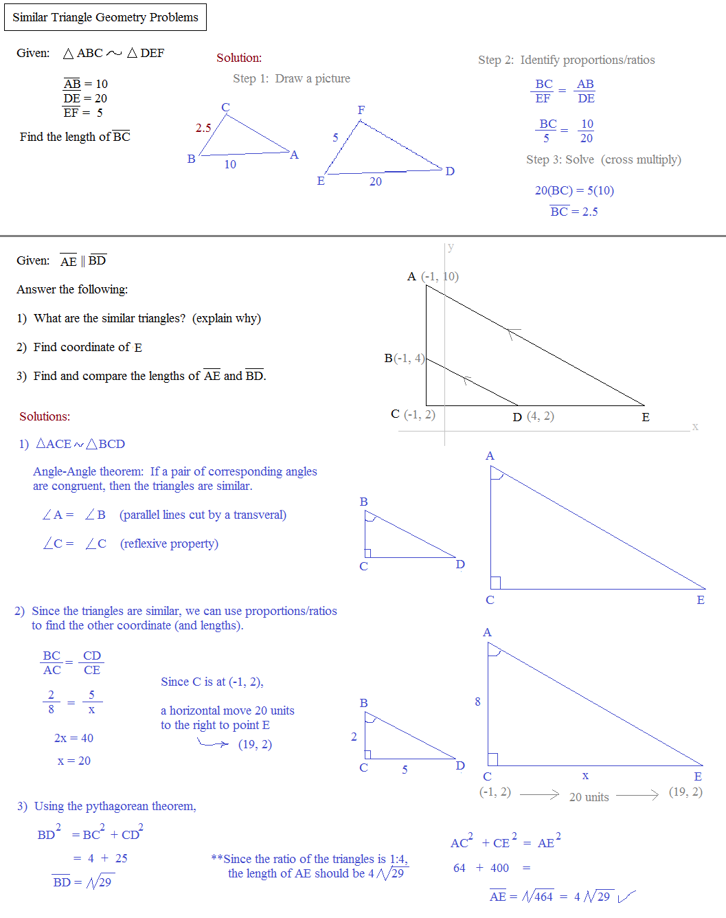 theorems for similar triangles worksheet answers similar triangles 10th 12th grade worksheet. Black Bedroom Furniture Sets. Home Design Ideas