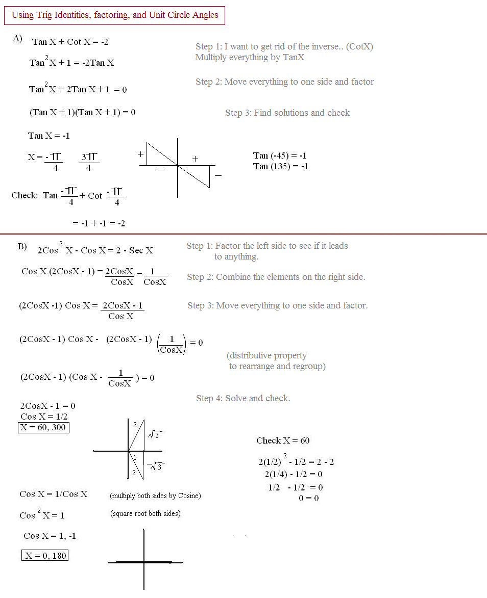 trig identities examples worksheet 3 4 answers. Black Bedroom Furniture Sets. Home Design Ideas
