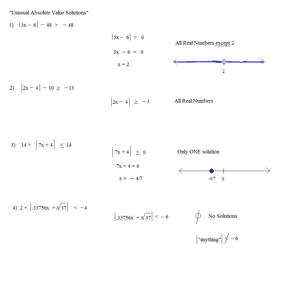 worksheet Solving Absolute Value Equations Worksheet Duliziyou – Absolute Value Inequality Worksheet