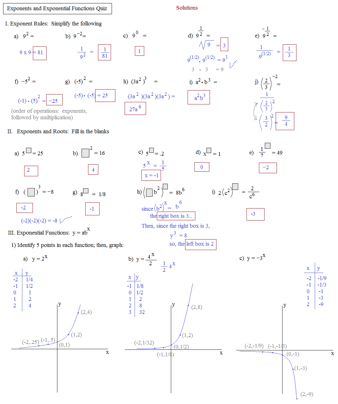Composite functions worksheet kuta