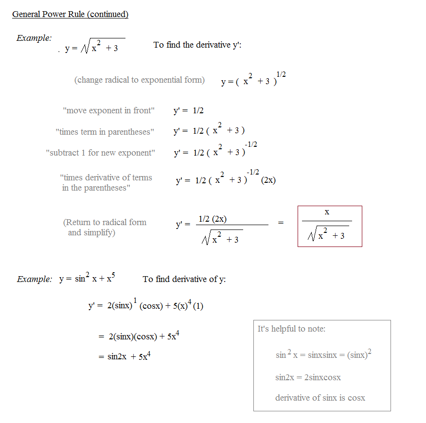 General Power Rule Notes And Exles Differentiation Practice Exercises Applying Derivative: Derivative Power Rule Worksheet At Alzheimers-prions.com