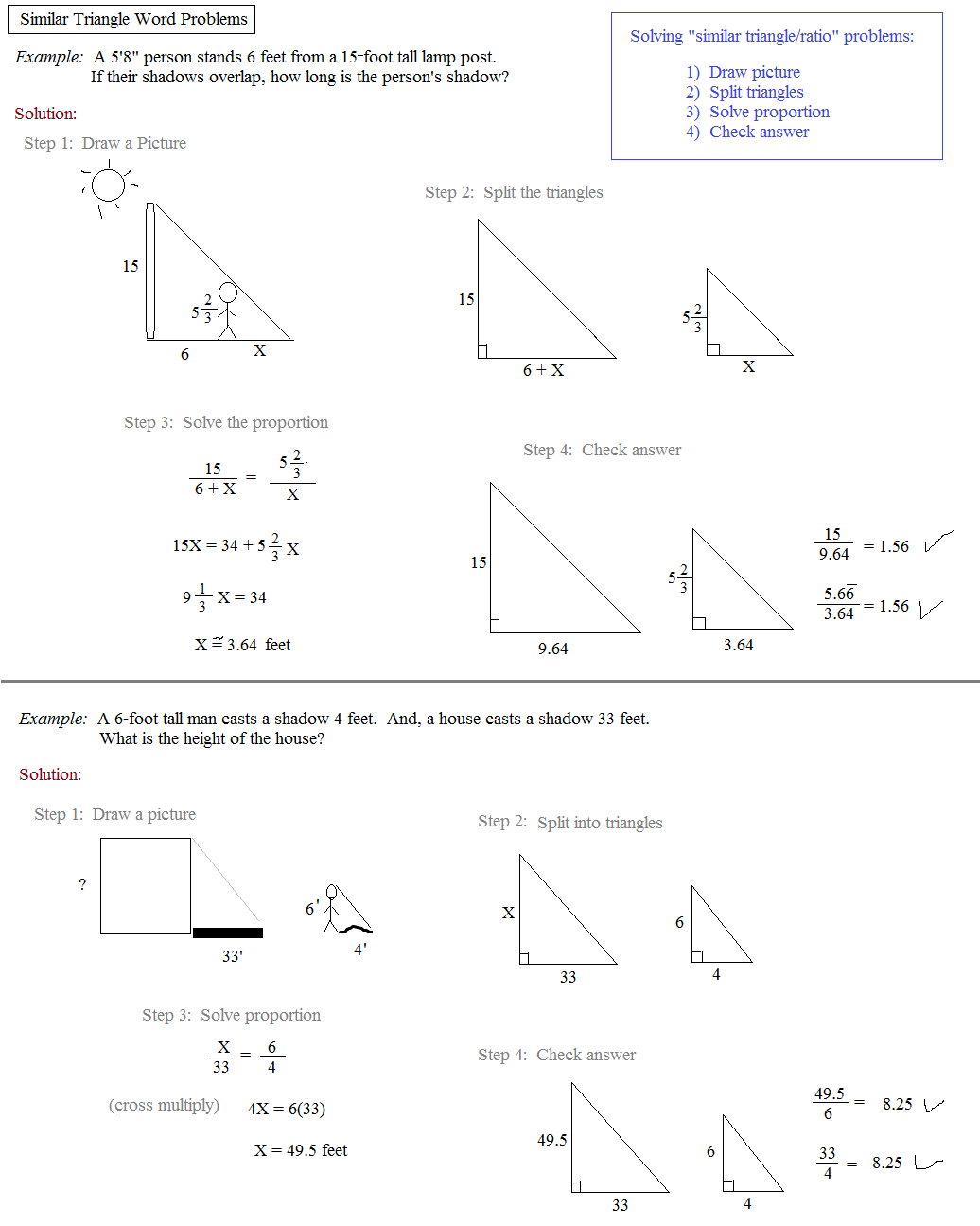 worksheet Similar Triangles And Proportions Worksheet math plane similar triangles ratios ratios