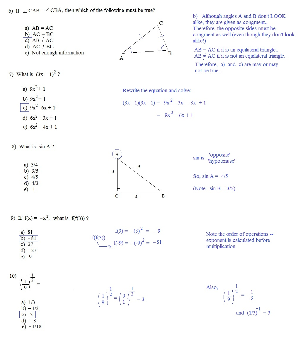 Printables Act Math Worksheets worksheet act math worksheets kerriwaller printables problems pdf related to plane challenging sat practice test