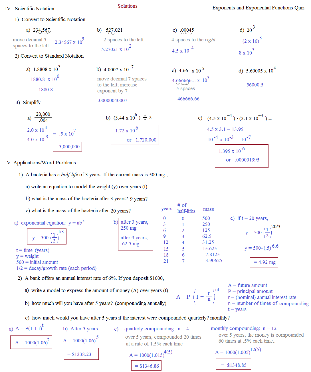 Exponential Growth And Decay Worksheet – Exponential Decay Worksheet
