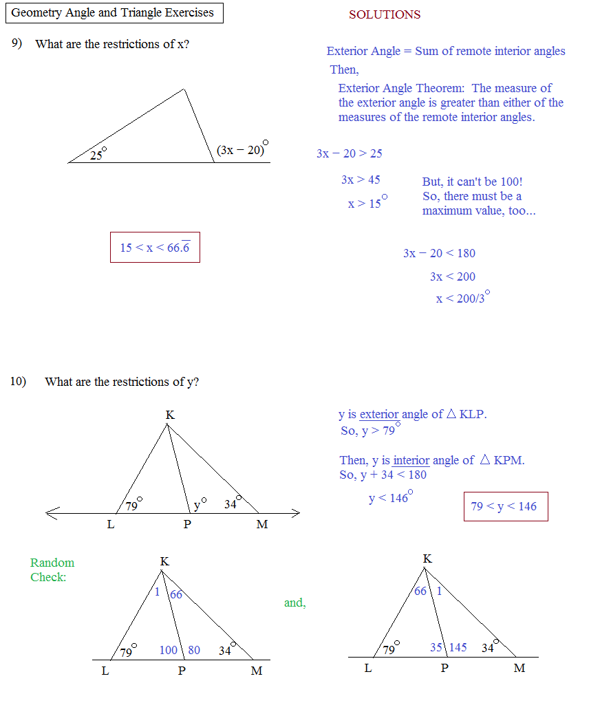 Math Plane Geometry Review 3