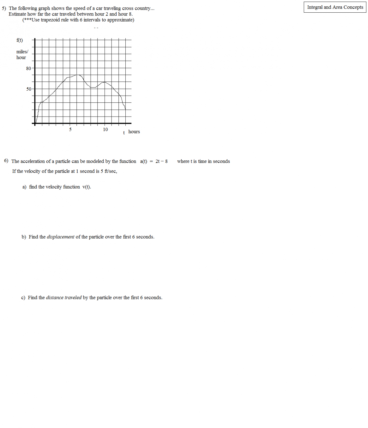 Math plane definite integrals concepts and applications integral and distance traveled robcynllc Images