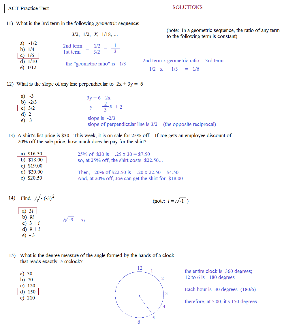 Act English Prep Worksheets – Act Math Practice Worksheet