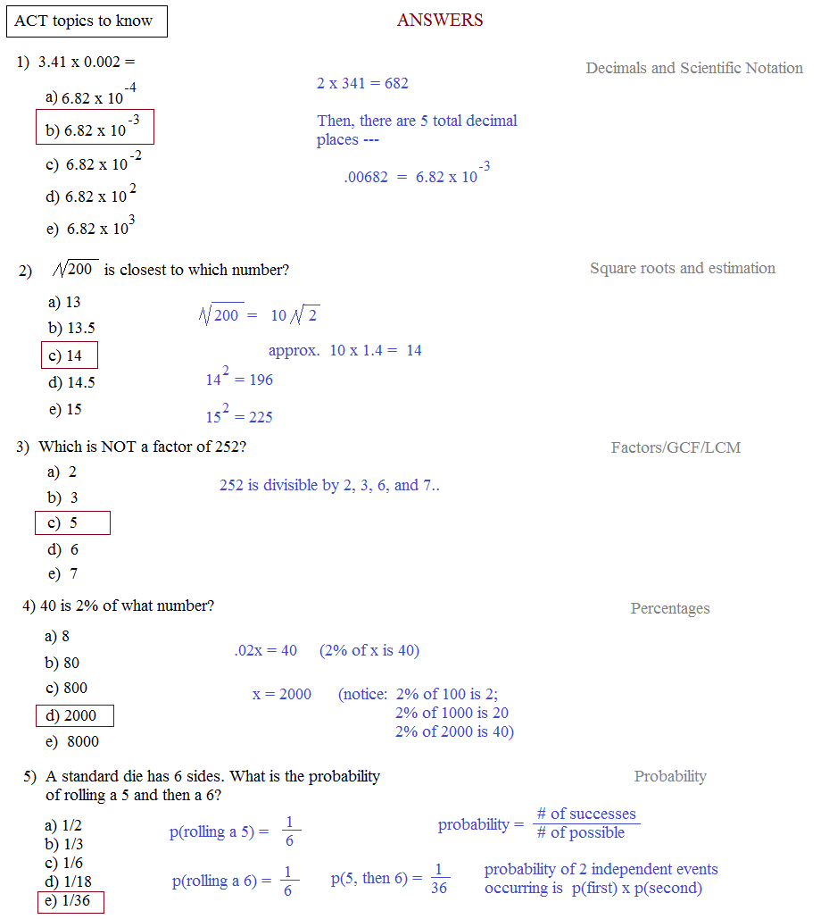 ACT Math - Intermediate Algebra Worksheet - YouTube