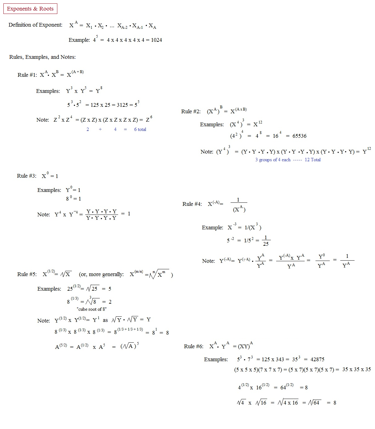 Math Plane Rational Exponents And Radical Equations