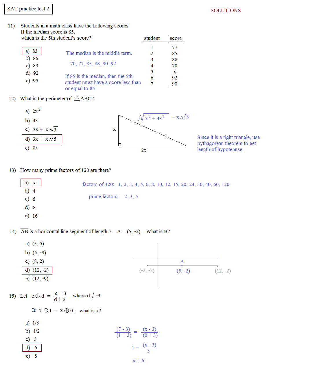 sat worksheets – Sat Math Worksheets