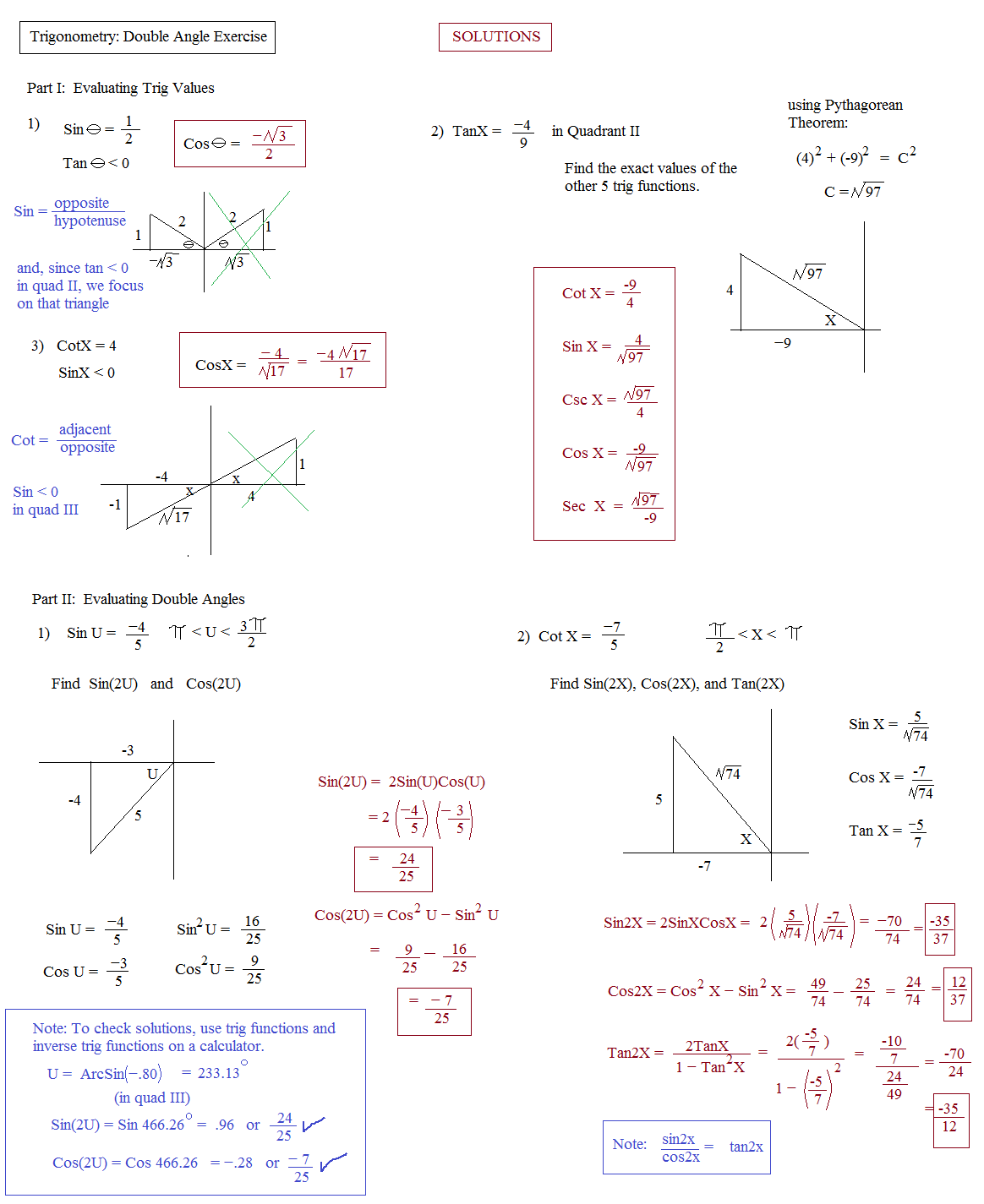 worksheet Free Trigonometry Worksheets trig identity worksheet abitlikethis identities ii double