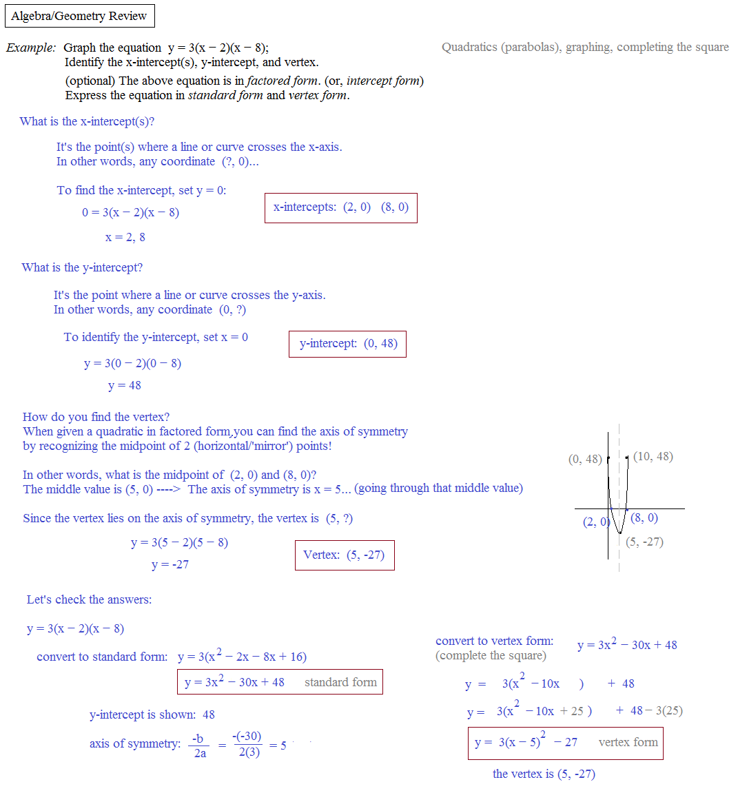 math reveiw Precalculus review and calculus preview - shows precalculus math in the exact way you'll use it for calculus - also gives a preview to many calculus concepts.