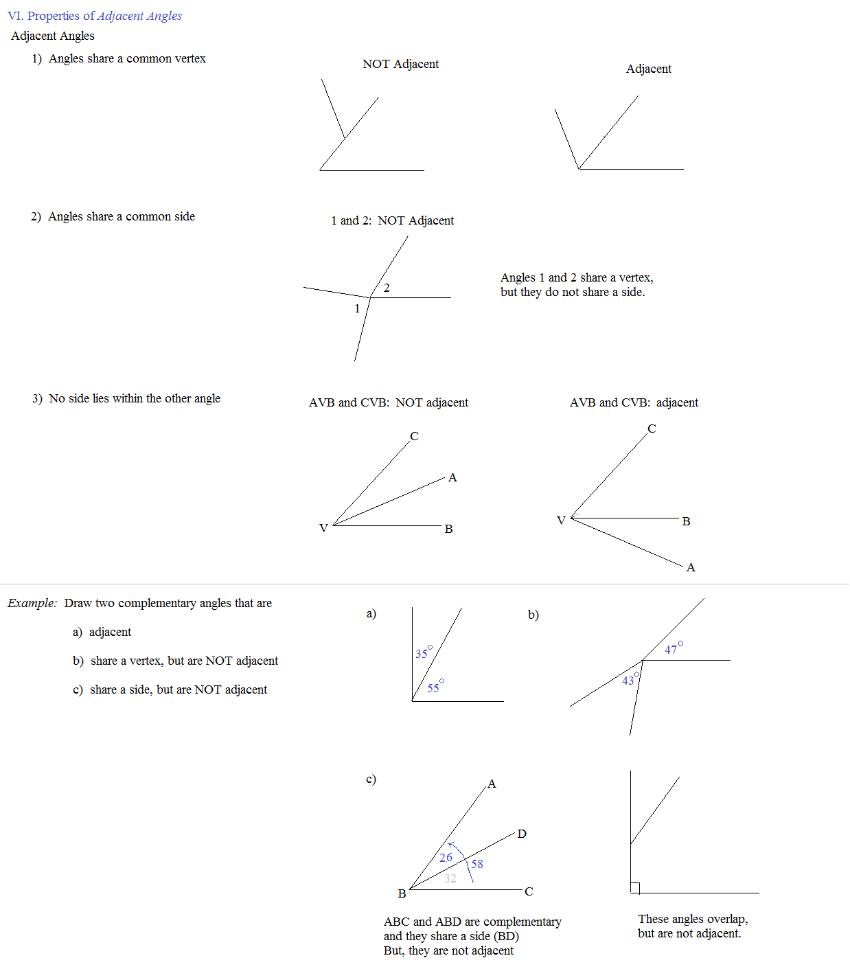 Uncategorized Adjacent Angles Worksheet math plane angles properties angle adjacent angles