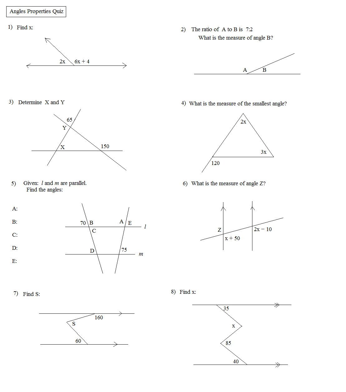Download Angle Properties: Notes and Quiz .pdf file