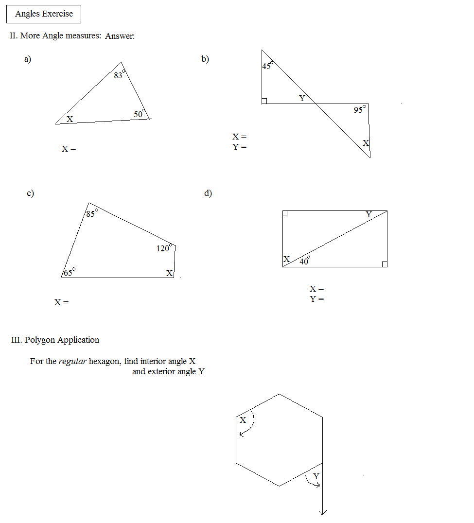 Mathworksheets4kids Triangle Interior Angle How To Find Interior Angles Of A Scalene Triangle