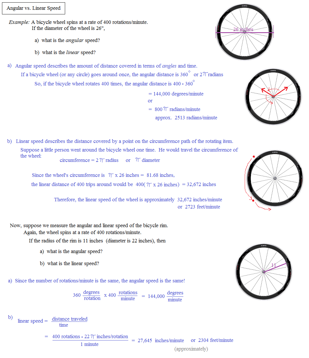 Math Plane Angle Measurement – Angular and Linear Velocity Worksheet