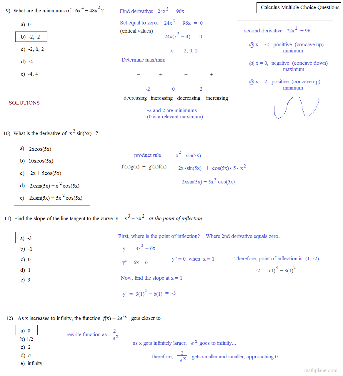 AP Calculus AB Practice Exam and Answers.pdf - AP Calculus