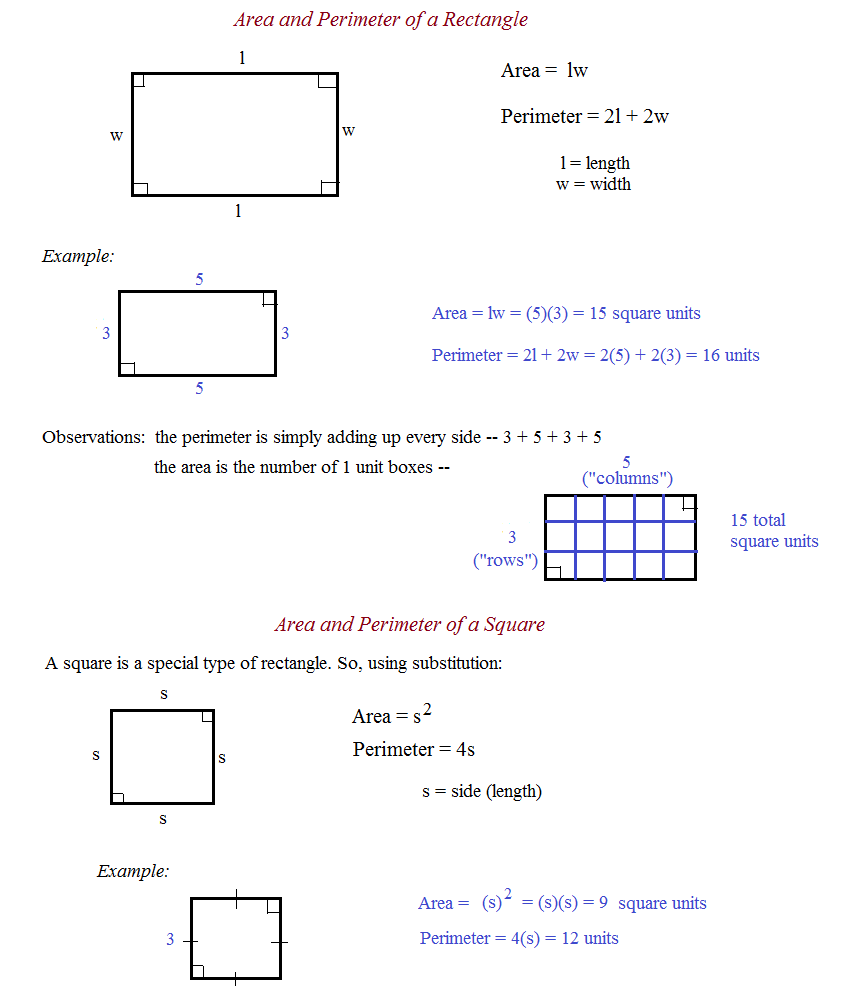 Area and perimeter of rectangle myideasbedroom com