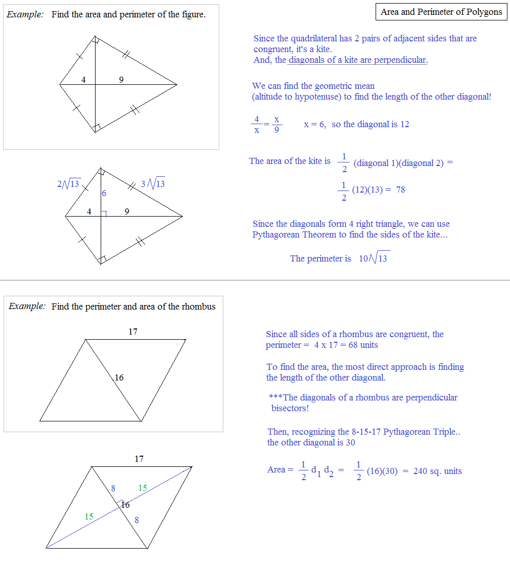 Math Plane Area And Perimeter Of Polygons 2