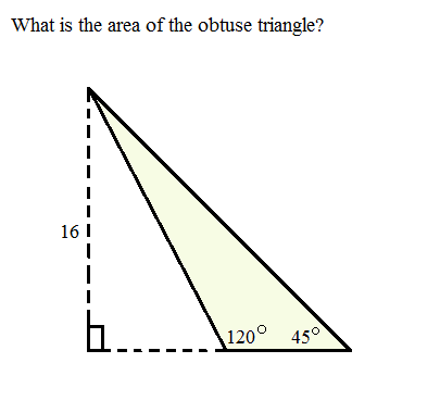 area of an obtuse triangle