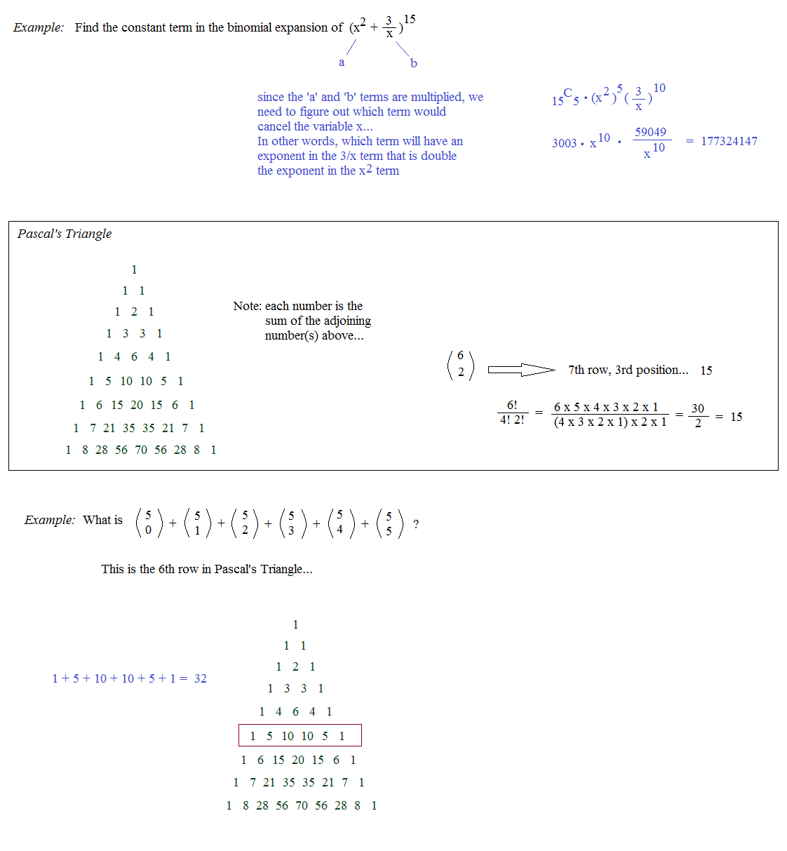 worksheet Binomial Expansion Worksheet math plane binomial expansion theorem pascals triangle