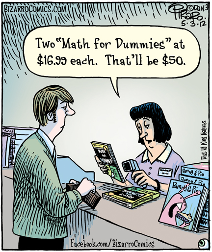 bizarro math for dummies comic 5-3-12 dan piraro