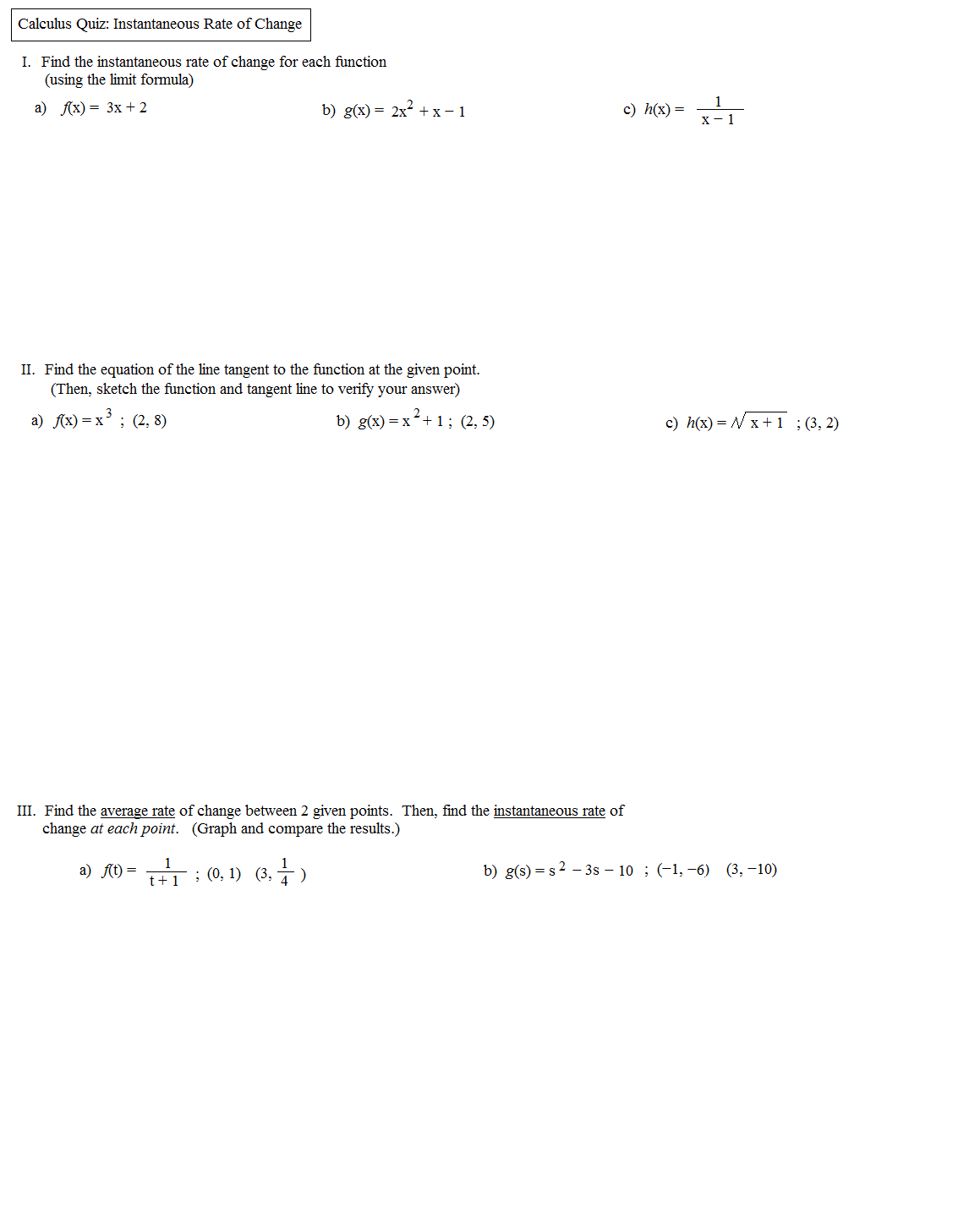 Uncategorized Rate Of Change Worksheet math plane definition of instantaneous rate change calculus quiz