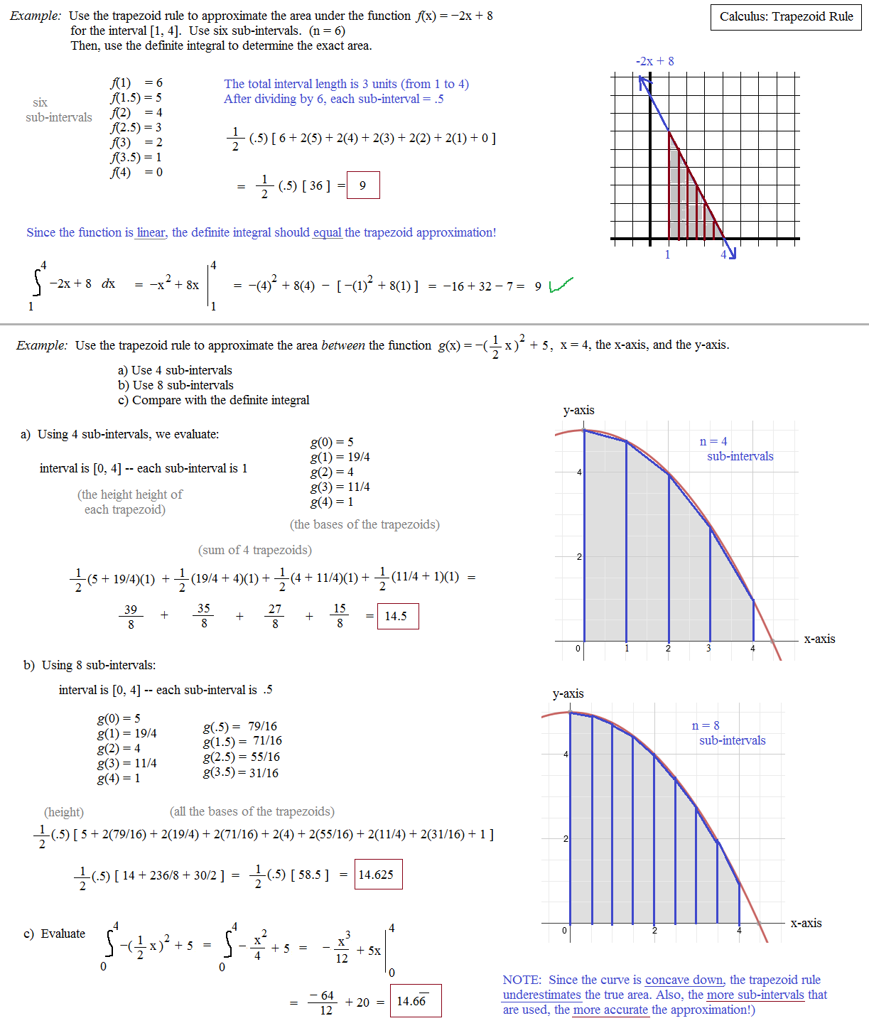 Download Free Complete Calculus Trapezoid Rule .pdf file