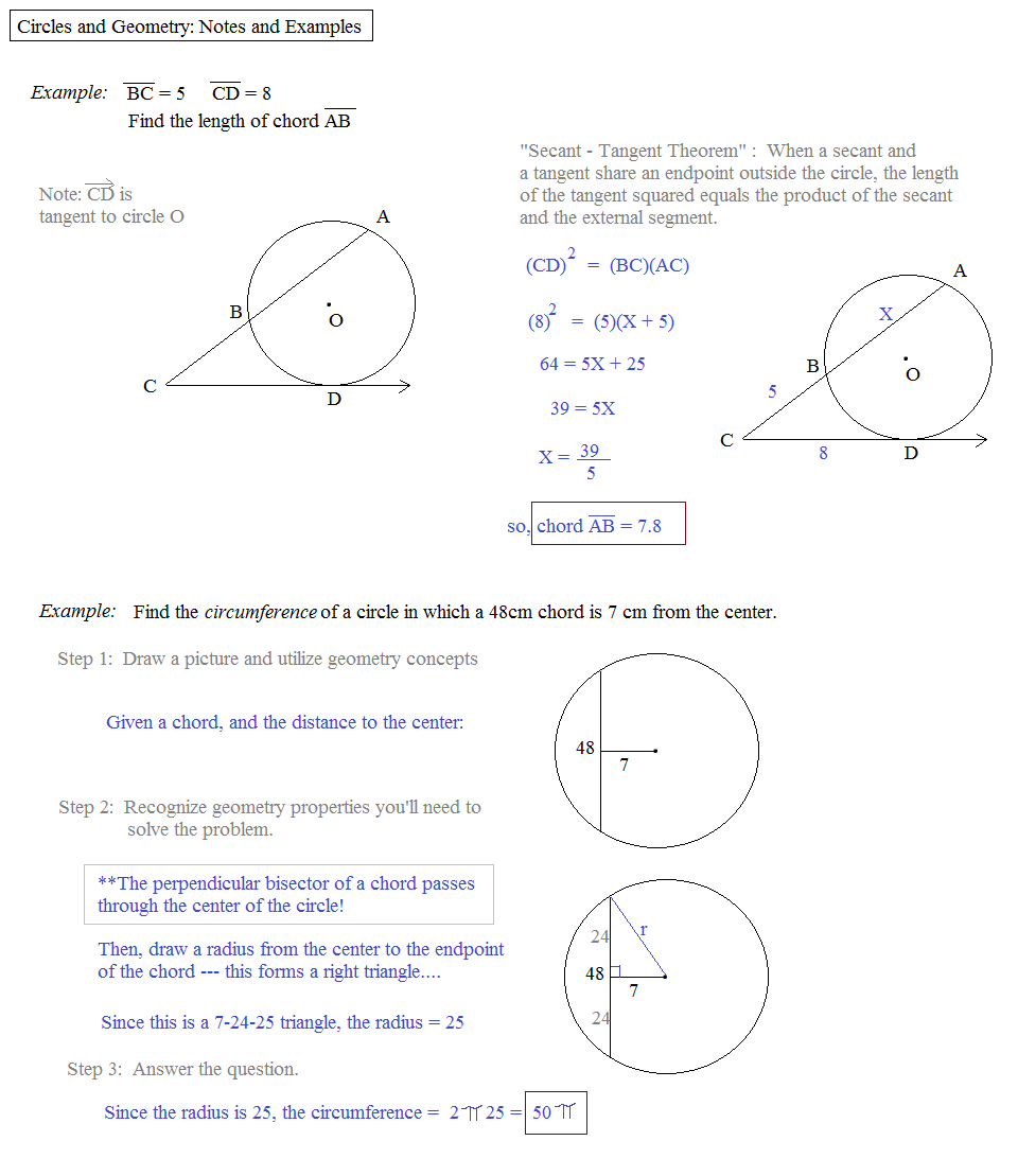 Math plane circles and geometry circles and geometry notes and examples hexwebz Gallery
