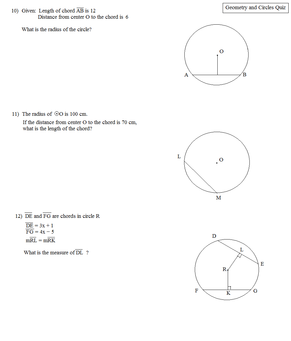 Math plane circles and geometry geometry and circles quiz 4 hexwebz Gallery