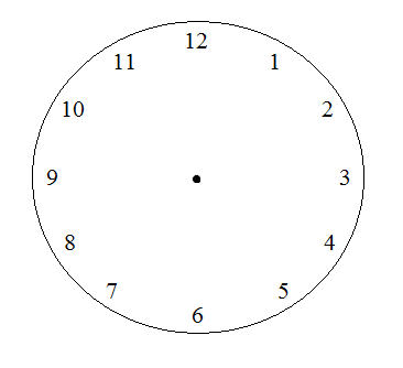 The face of a clock math puzzle