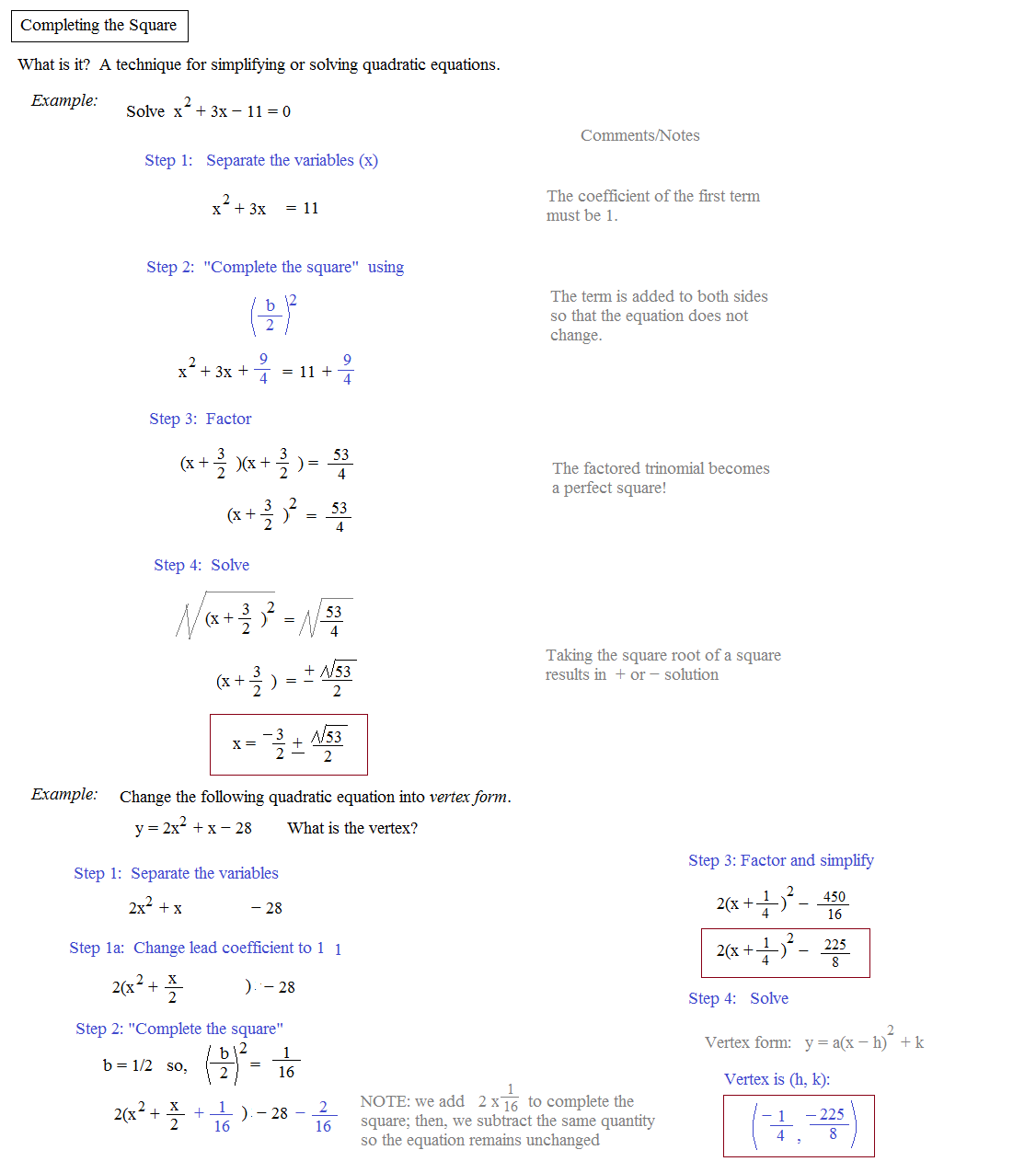 Math Plane Completing the Square Quadratic Formula – The Quadratic Formula and the Discriminant Worksheet
