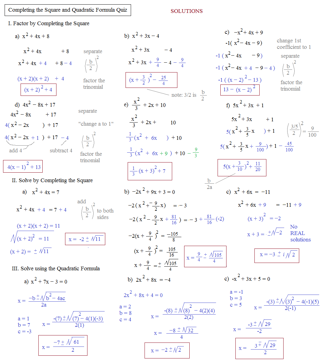 Worksheets Using The Quadratic Formula Worksheet the quadratic formula and discriminant worksheet free worksheet