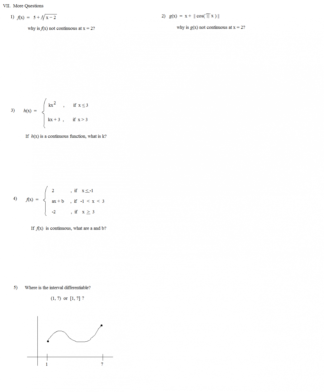 Math Plane - Continuity & Differentiability