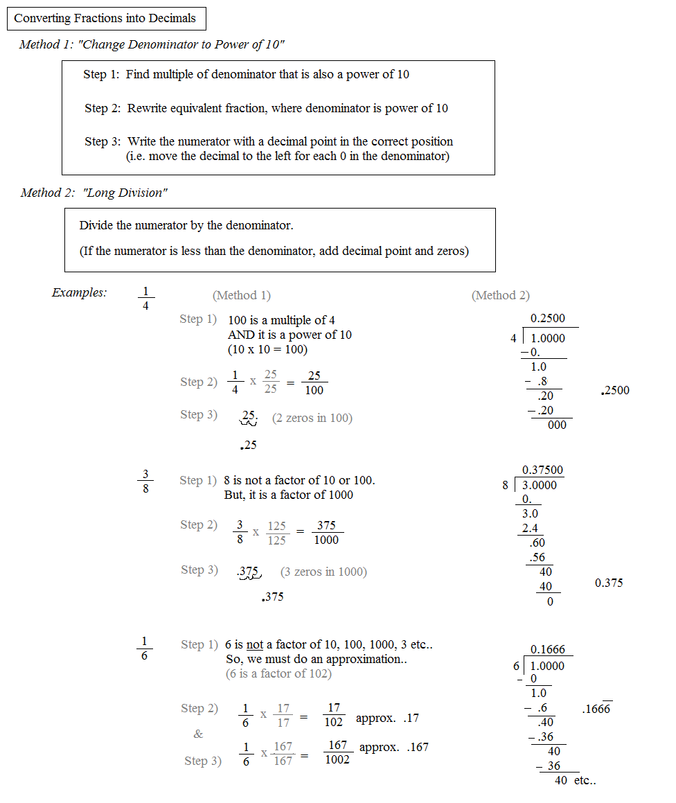 Math Plane Converting Fractions to Decimals to Percentages – Convert Percent to Decimal Worksheet